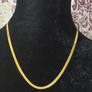 "Jewelry - 20"" 14k Yellow Gold Filled Herringbone Necklace"
